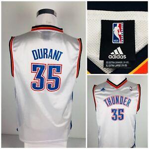 Adidas Oklahoma City Thunder Boys XL Jersey #35 Durant Rare White