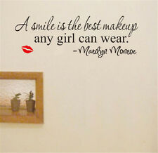 A Smile Art Marilyn Monroe Quote Removable Vinyl Wall Sticker Home Decor Decal