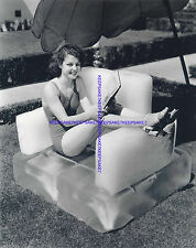 ACTRESS ANN SHERIDAN IS COOLING IT, LEGGY IN HEELS, FEET TOES 8X10 PHOTO A-AS3