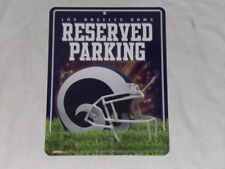 NFL LA LOS ANGELES RAMS RESERVED PARKING TIN METAL SIGN NEW