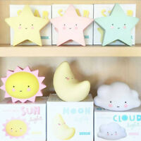 1Pc LED night light table lamp star sun cloud baby kids room decor toy gift CPEV