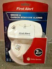 First Alert Smoke Alarm & Carbon Monoxide Detector Combo 2 Pack Battery Alarms