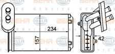 HELLA Wärmetauscher, Innenraumheizung 8FH351001-611 für AUDI SEAT SKODA VW
