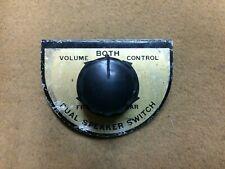 Vintage dual speaker switch for radio or sound system, car, truck, juke box
