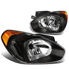 FOR 07-11 ACCENT MC LEFT+RIGHT BLACK HOUSING AMBER CORNER HEADLIGHT/LAMP PAIR