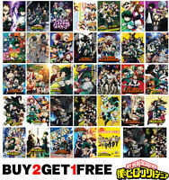 My Hero Academia Anime Manga Boku no Hero Poster Art Print Wall Home Room Decor