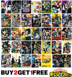 My Hero Academia Anime Manga Boku no Hero Poster Art Print Wall Home Room Decor