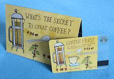 Mega Rare Starbucks 2003 * COFFEE PRESS * Gift Card & Sleeve Set Ltd Edition HTF