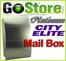 "BUY NOW PLATINUM ""CITY ELITE"" STAINLESS STEEL LETTER MAILBOX MAIL BOX (SEC LOCK)"