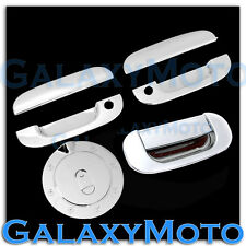94-01 Dodge Ram Triple Chrome 2 Door handle W/PSG Keyhole+Tailgate+Gas Cover