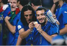 Gianluca ZAMBROTTA Signed 12x8 Photo AFTAL COA Autograph ITALY RARE ITALIAN