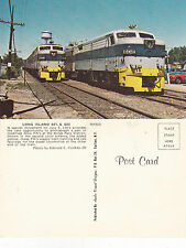 US LONG ISLAND ENGINES 601 & 602 UNUSED COLOUR POSTCARD