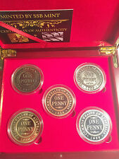 2015 Boxed Set of 5 x 1 oz 85 year Anniversary of the 1930 penny coins LTD 2,500