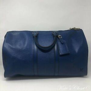 LOUIS VUITTON Keepall Vintage 45 Toledo Blue Weekend/Travel Bag
