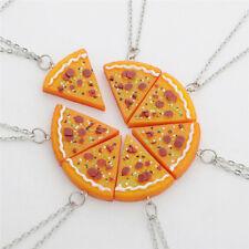 7 pcs/set Pizza Pendant Necklaces for Men Women Family Friendship Jewelry NA