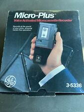 General Electric Ge 3-5336 Micro Plus Voice Activated Microcassette Recorder