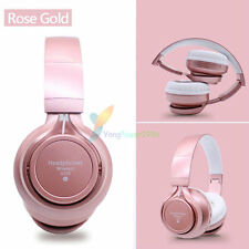 Pink -YP74 FM Bluetooth Headphone Stereo Headset Earphone For Call Phone Galaxy