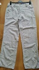 M&Co ladies linen striped trousers size 12