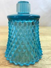 Home Interiors Diamond Point Aquamarine Blue Votive Cup w/ rubber grommet
