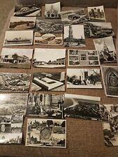 Job Lot Collection 24 Vintage Black & White Postcards Ephemera 1950s scenes