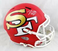 Nick Bosa Signed San Francisco 49ers F/S AMP Speed Helmet- Beckett Auth *White