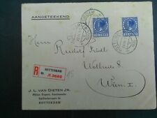 Nederland 186 2x op aangetekende brief van Rotterdam naar Wenen 1926