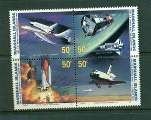 Marshall Islands #394a (1991 Space Shuttle block of 4)  VFMNH CV $3.75