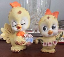 Pair of 1950's Vintage Kelvin's Yellow Chick Figurines