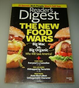 2 Reader's Digest magazines September 2013 and October 2013