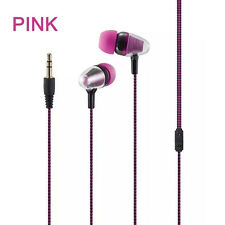 3.5mm Strong Braided Bass Earphone HD Voice In Ear For Huawei P9/P10 Plus Lot