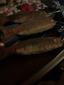 Hand Carved Wood Fish Stringer