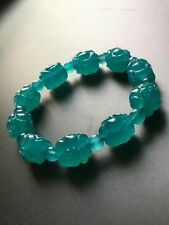 Natural Mozambique Ice Amazonite Gems Beads Bracelet 16mm AAAA(CX)