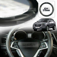 Carbon Steering Wheel Cover Glossy Urethan 370mm for HYUNDAI 2010-15 Tucson ix35