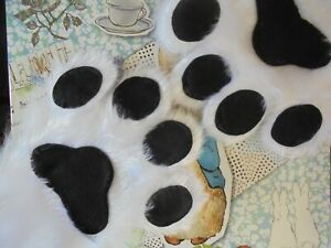 Fursuit Hand Paws White Fur and Black Paw Pads - - Made to order