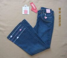 Gymboree Tres Chic Pink Heart Denim Pants Jeans Charm Rhinestone Hair 9 NWT New
