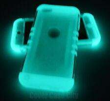 Clear Hard & Soft Glow in Dark Impact Case Cover for Apple iPod Touch 5 5th Gen