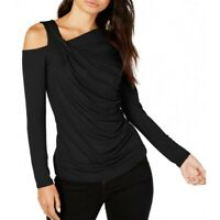 VINCE CAMUTO NEW Women's Ruched Cold-shoulder Blouse Shirt Top TEDO