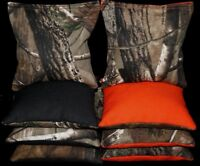Cornhole Bean Bags REALTREE Orange & Black Camo Hunting Real Tree Camouflage