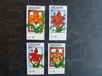 1990 GRENADA GRENADINES ORCHID EXPO SET OF 4 ORCHID MINT STAMPS MNH