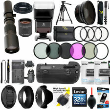 NIKON D7200 HD TELESCOPE TELEPHOTO ZOOM LENS 500-1000MM + 40PC PRO ACCESSORY KIT