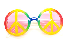 Hippy Peace Rainbow Fancy Dress 1960's Costume Hippie Specs John Lennon Ozzy