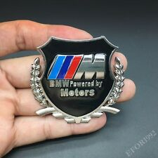 Metal M Power Motors Emblem Car Badge Decal Sticker For BMW X1 X3 X5 M2 E Z4 GT