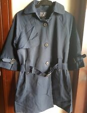 FOREVER21 WOMEN'S WATER REPELLANT TRENCH COAT JACKET-NAVY, Medium