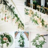 Artificial Greenery Garland Gillow Leaves Vine Gedding Backdrop Plants Decor G9A