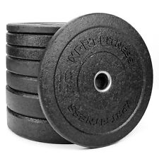 XPRT Fitness Olympic Crumb Rubber Bumper Plates 10/15/25/35/45 lbs