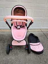 New ListingLuxury Baby stroller 3 in 1 leather Carriage Infant Travel System Foldable Pram
