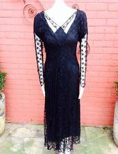 Original Femmes Vintage 1930 S dentelle robe
