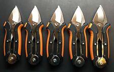 Lot of 5 FISKARS Power-Grip Bypass Pruner Tree/Limb Cuts 2x Easier NEW