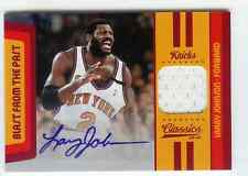 2009-10 Classics Larry Johnson Blast From The Past Auto Jersey #7/25 Knicks