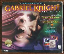 GABRIEL KNIGHT MYSTERIES (1&2) BIG BOX PC CD 8xCD SOUNDTRACK GRAPHIC NOVEL